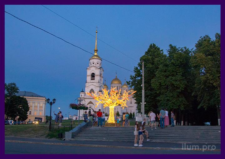 "Дерево светодиодное ""Сакура"" в парке города Владимир"