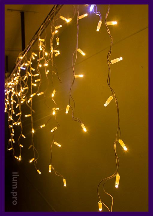 Уличная светодиодная бахрома 3х0,9 метра с эффектом мерцания