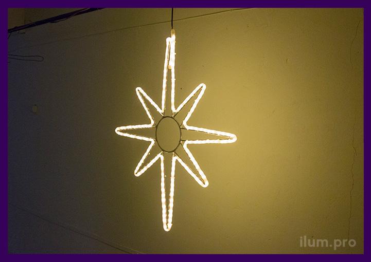 Новогодняя светодиодная фигура с подсветкой контура