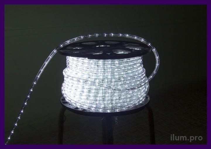 Белый прозрачный светодиодный дюралайт в катушке оптом