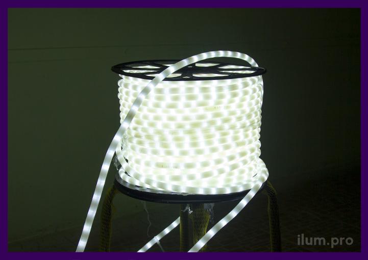 Белый светодиодный дюралайт в катушке для оптовой отгрузки