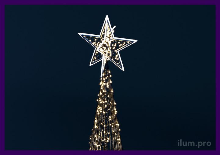 Макушка светодиодной ёлки в форме звезды