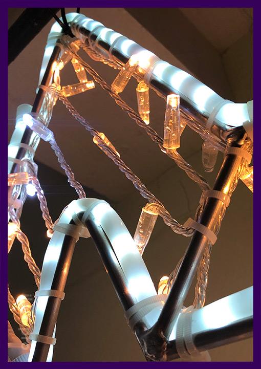 Детали светодиодной звезды для украшения на Новый год