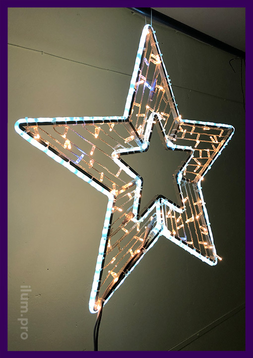 Led star for street and interior decoration