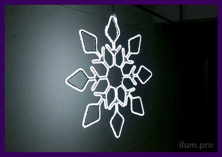Восьмилучевая светодиодная снежинка для украшения города