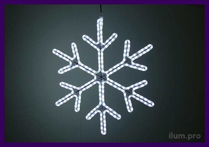 Уличная светодиодная снежинка диаметром 70 см