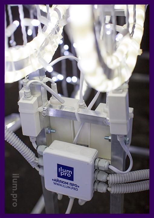 Коробка распределительная на светодиодной фотозоне