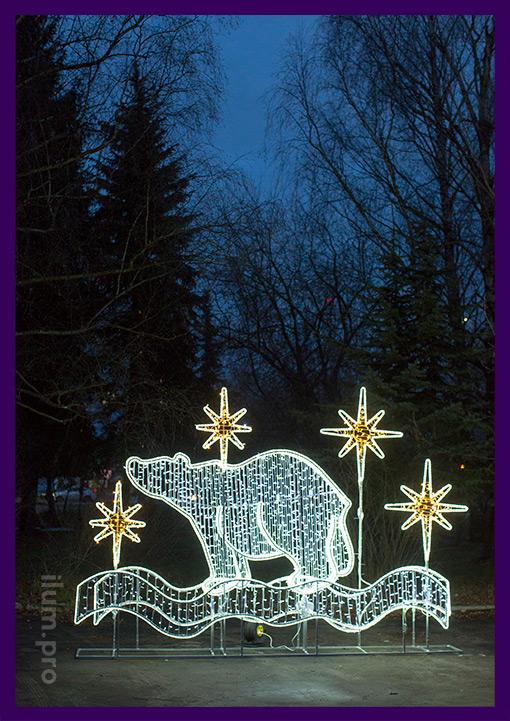 Фотозона новогодняя с гирляндами для украшения города