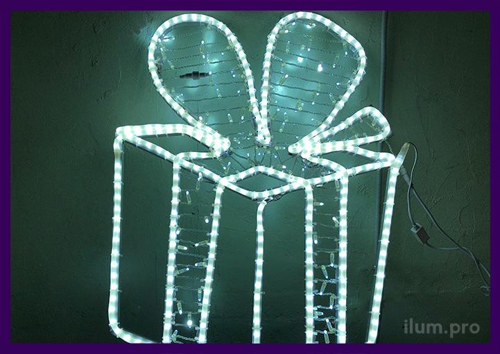 Консоль светодиодная с гирляндами и подсветкой контура