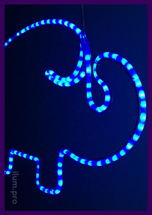 Фигура из светодиодного дюралайта в форме животного