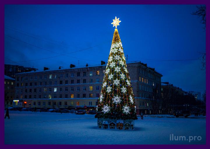 Украшения светящиеся для новогодней ёлки в Мурманской области