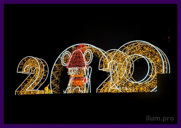 Уличные световые фигуры для украшения парка на Новый год