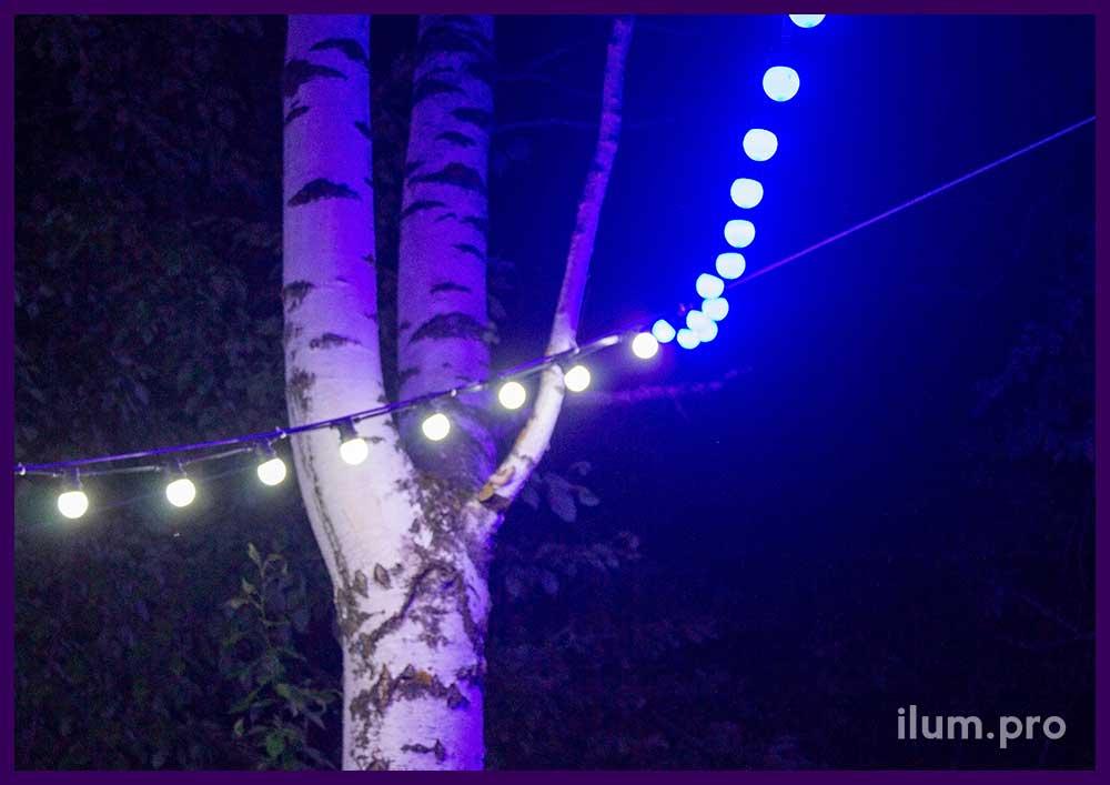 Белтлайт светодиодный - гирлянда с крупными лампочками