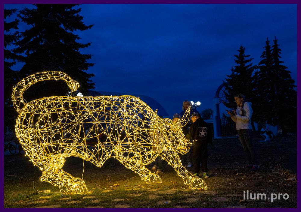 Гирлянды светодиодные уличные для украшения световых фигур в форме животных