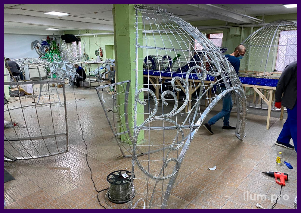 Сборка и тестирование светодиодных шаров и декораций с гирляндами