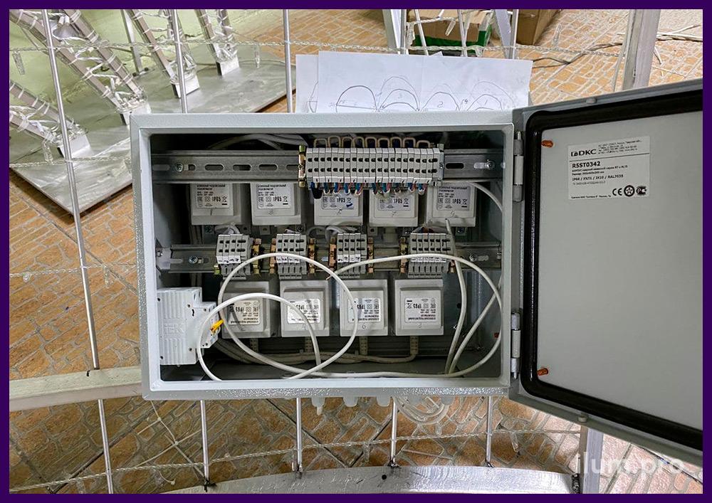 Электрика, провода и блоки питания гирлянд высокого качества с защитой от влаги