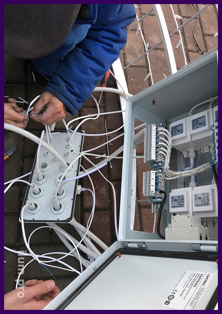 Сборка электрики для подключения иллюминации на Новогодние праздники
