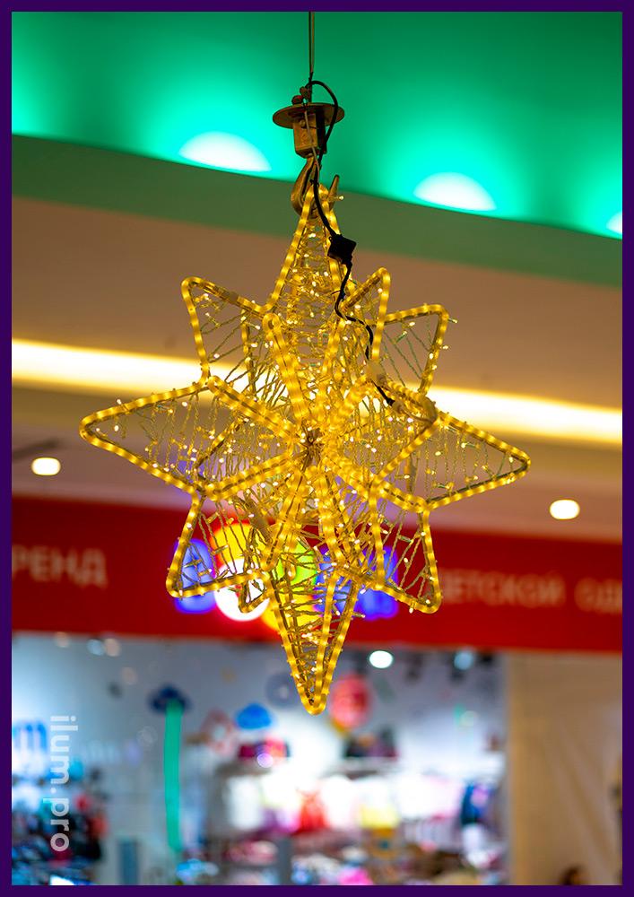 Светодиодные украшения для атриумов торговых центров на новогодние праздники