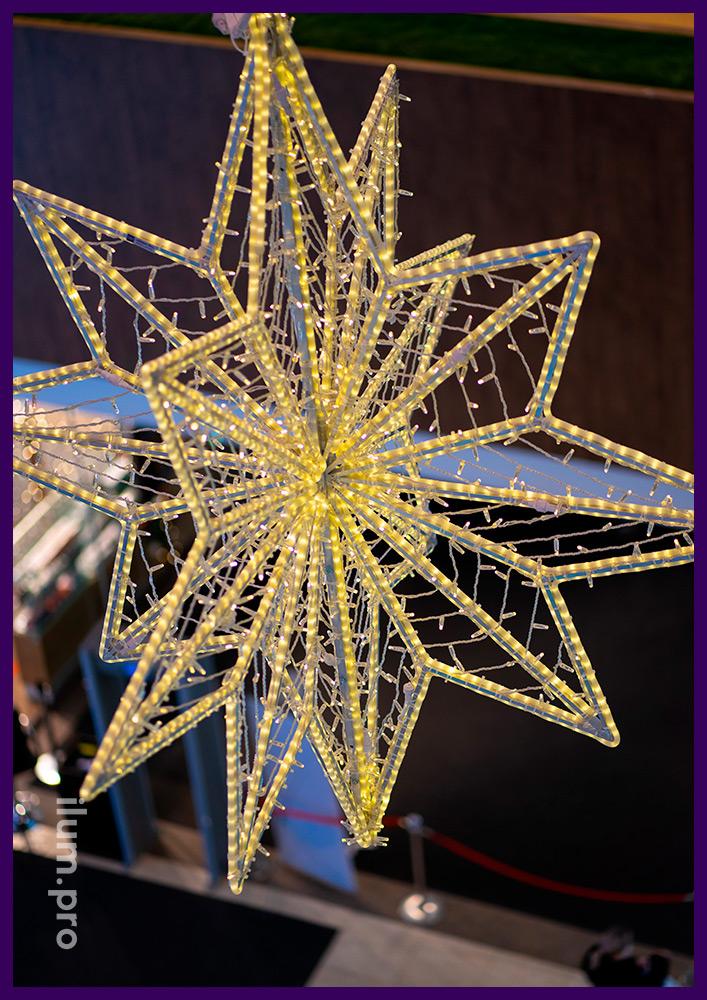 Светящиеся фигуры для украшения атриумов ТЦ, новогоднее украшение с подсветкой гирляндами