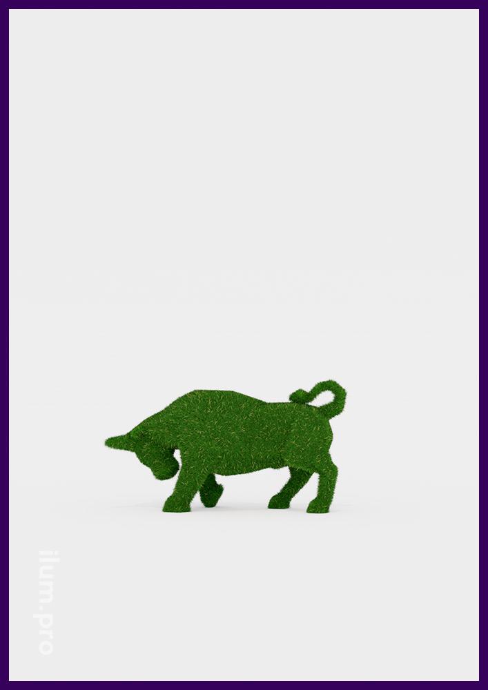 Быки топиари - ландшафтные скульптуры для украшения газона в форме животных