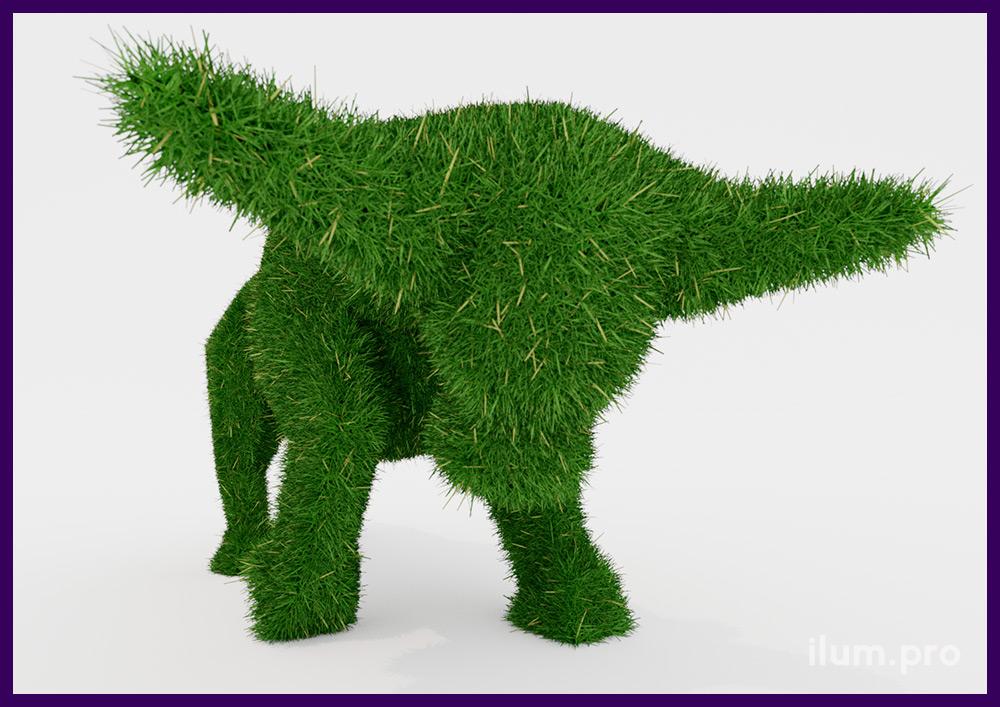 Топиари для украшения сада летом и зимой, бык с покрытием искусственной травой