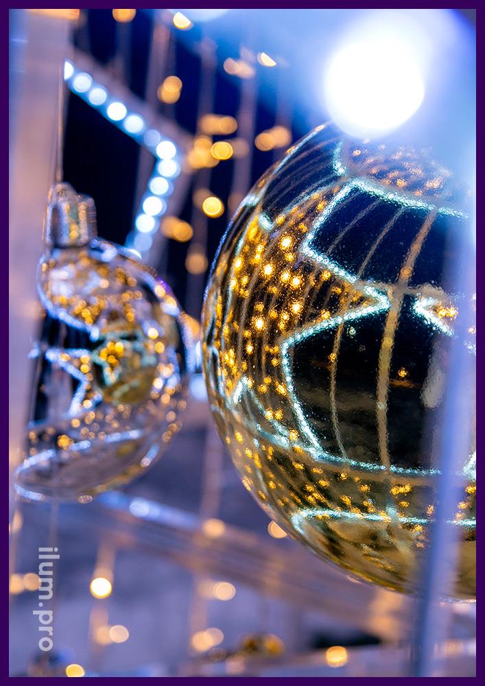 Новогодние ёлки из разноцветных гирлянд и профессионального дюралайта с высокой степенью защиты от влаги