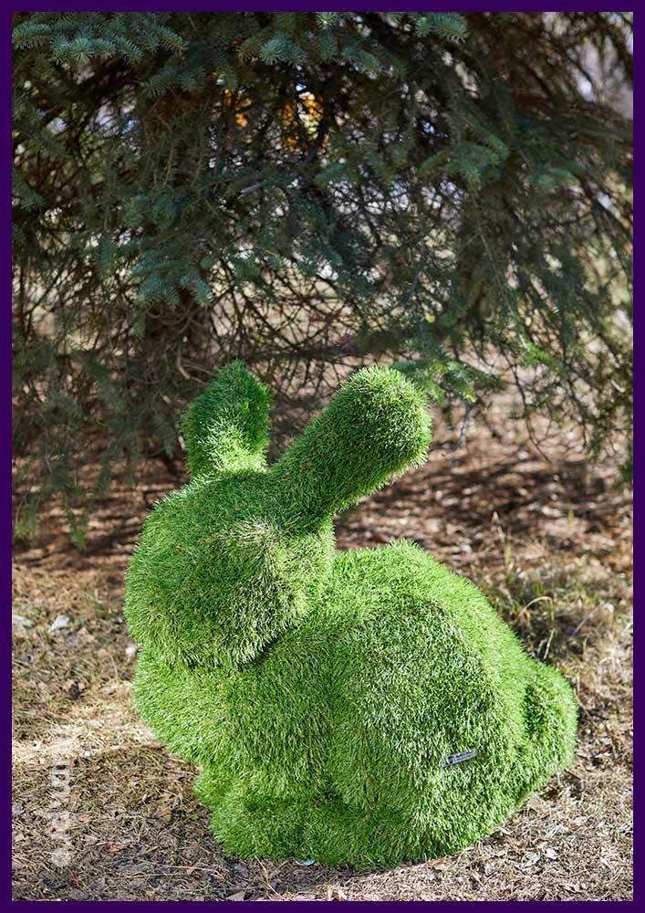 Зайцы топиари с искусственным газоном для парков и скверов