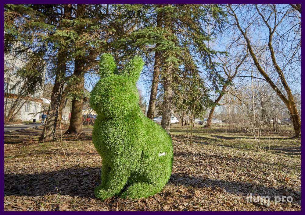 Пара кроликов топиари для установки в парке или частных владениях