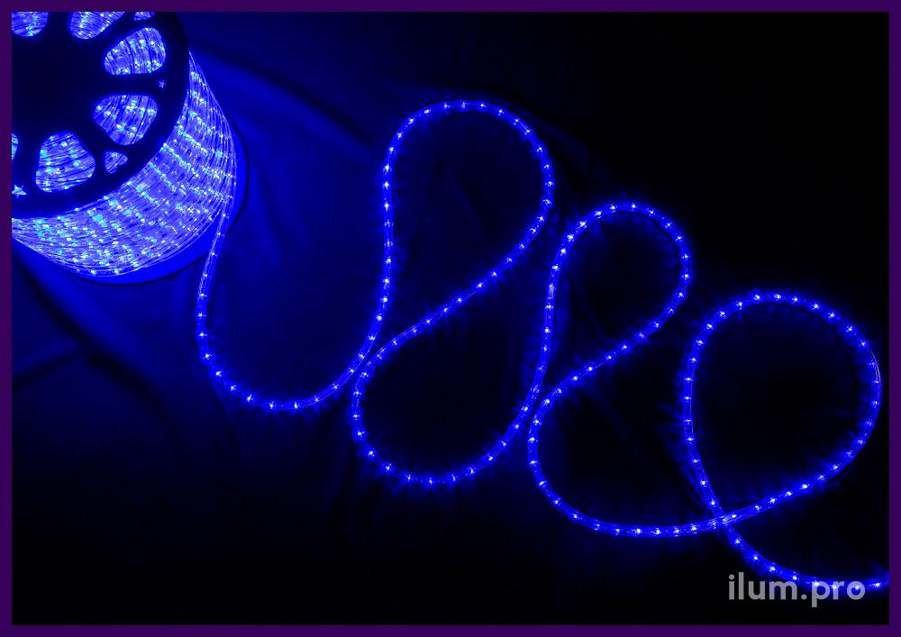 Катушка синего светодиодного дюралайта с прозрачной ПВХ оболочкой, длина 100 метров