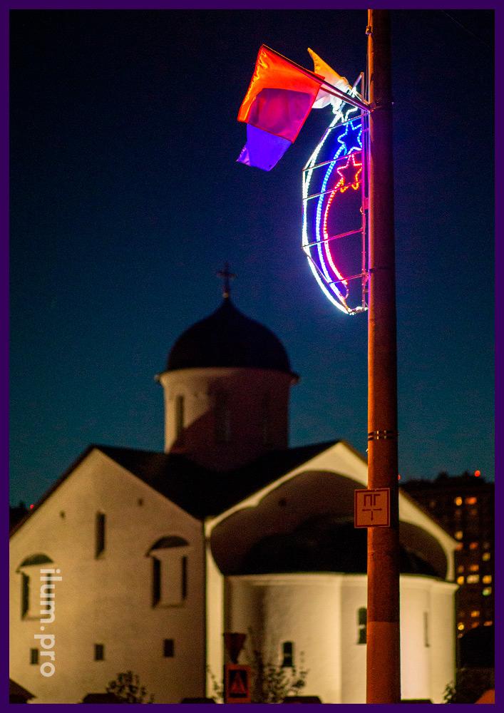 Декоративные консоли со светодиодной подсветкой для украшения городских улиц и парков