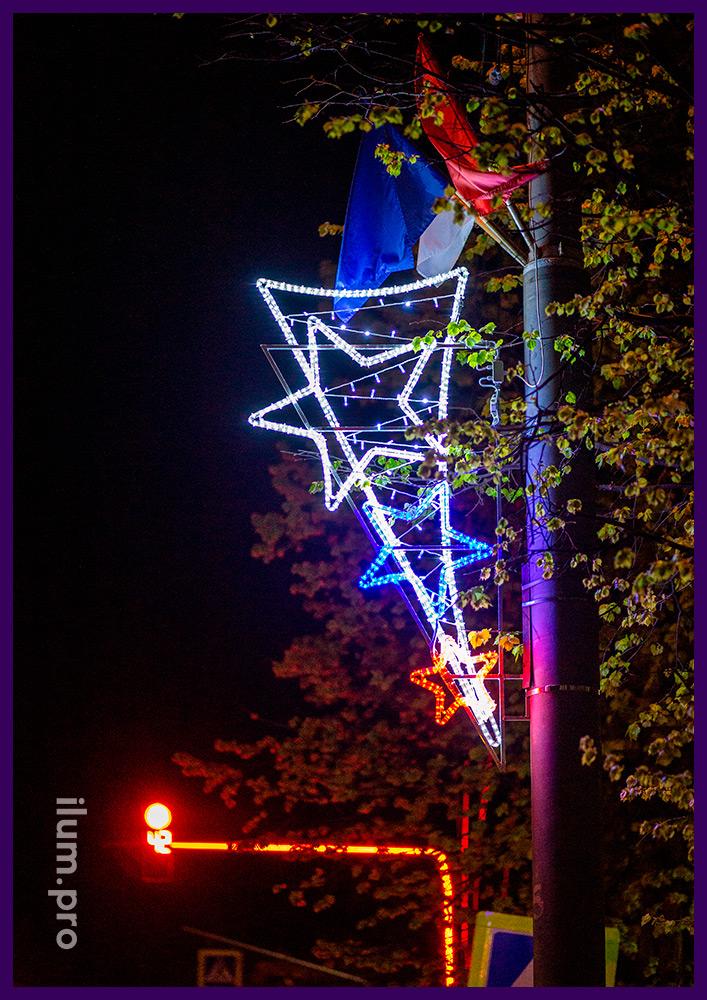 Консоли праздничные светодиодные на алюминиевом каркасе для фонарей в Подмосковье