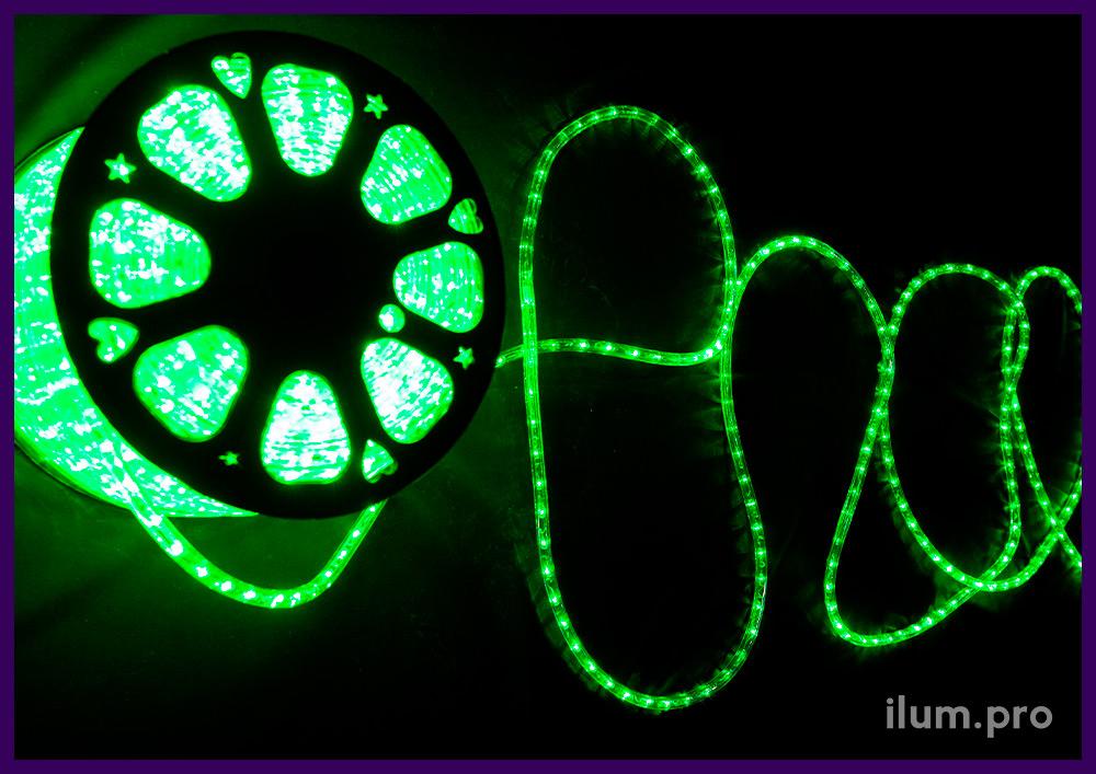 Гирлянда зелёного цвета для выделения контуров объектов и надписей