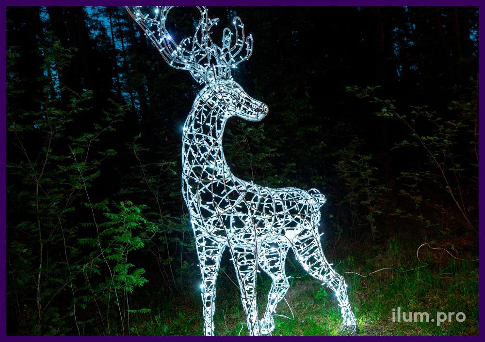 Светодиодная фигура в форме оленя с уличными гирляндами для украшения на Новый год и другие праздники
