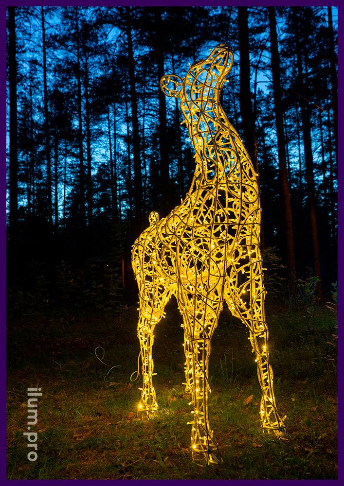 Олени светящиеся на Новый год и для повседневного использования на улице и в интерьере