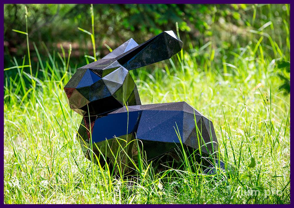 Фигура полигональная металлическая в форме зайца (кролика) с порошковым окрашиванием