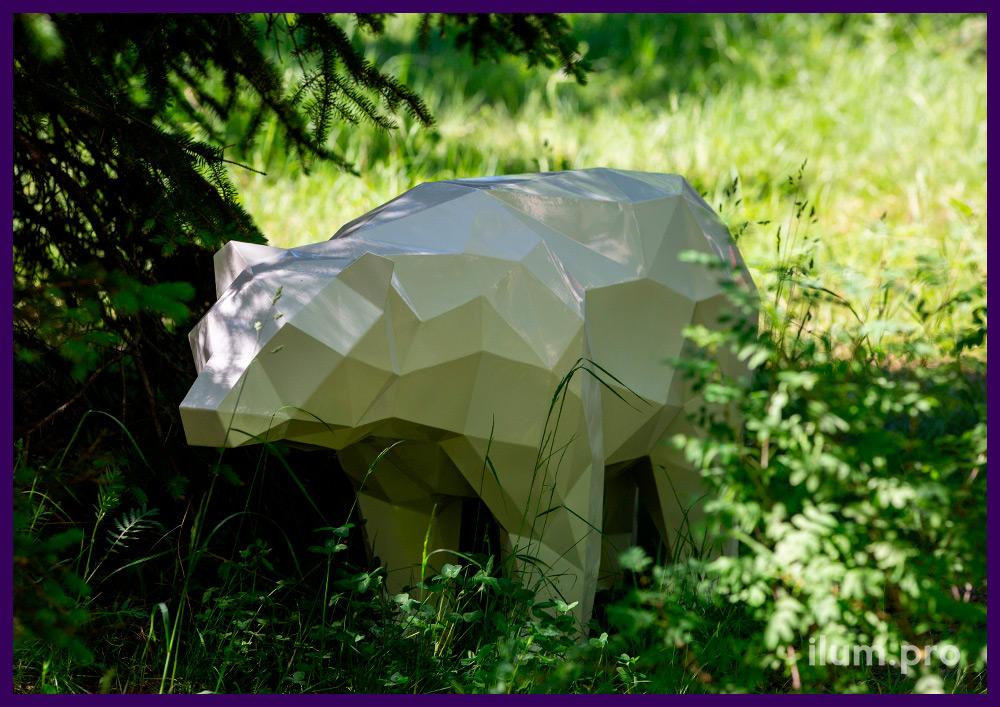 Арт-объекты для парка или сквера - металлические полигональные животные разных цветов