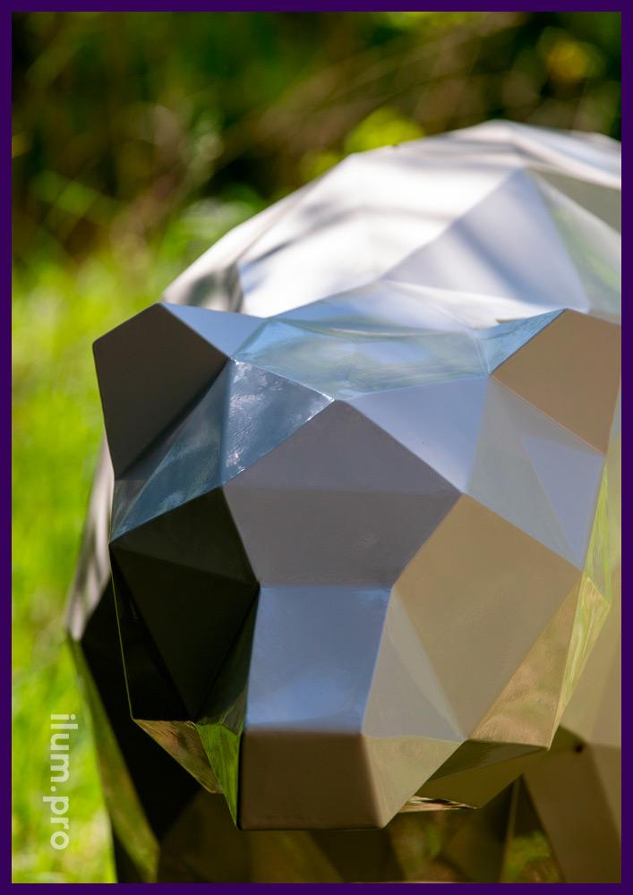 Арт-объекты полигональные металлические для благоустройства территории парков и скверов