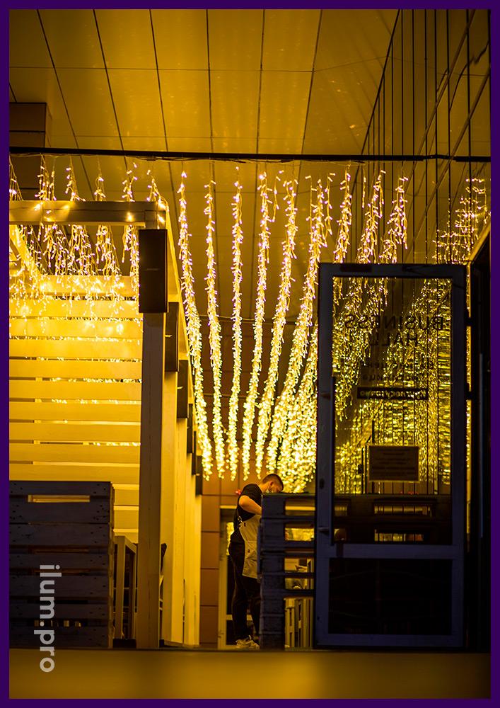 Иллюминация светодиодная для ресторанов и кафе в Иркутске, IP65
