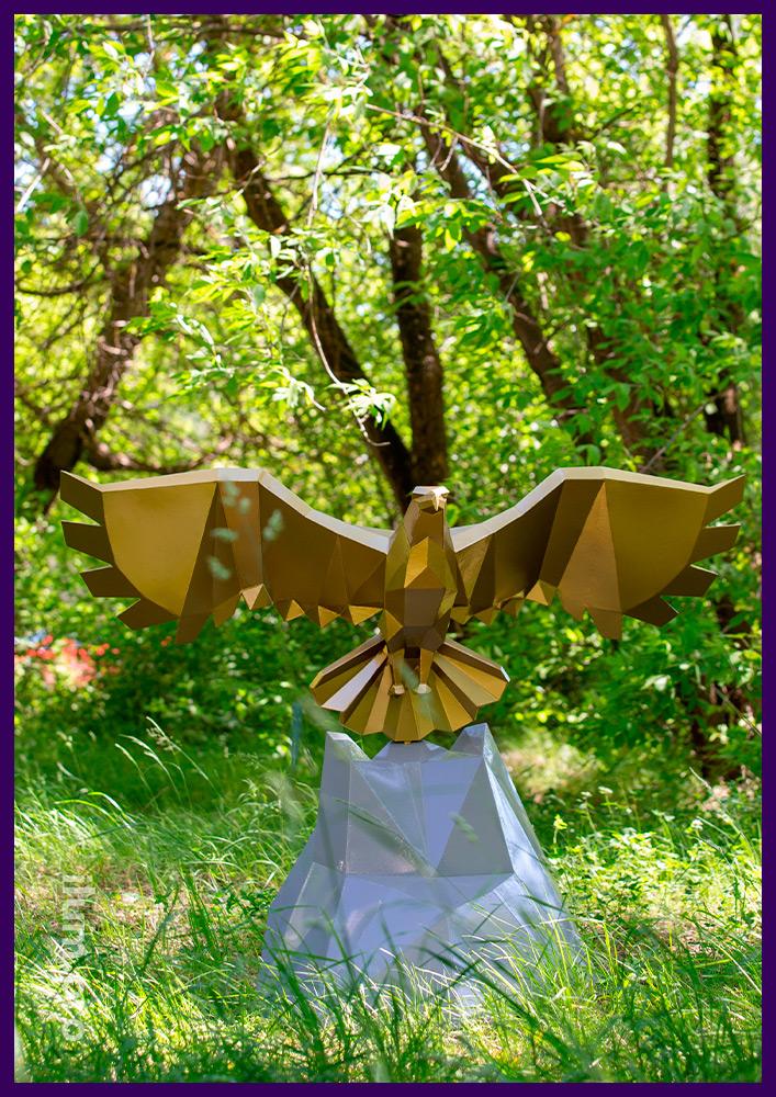 Орёл металлический полигональный - фигура сваренная из листовой стали с порошковой краской