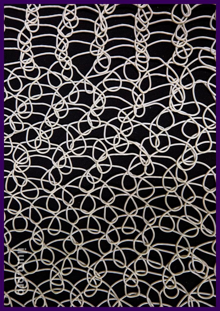 Новогодние декоративные материалы из белого эластичного пластика ПВХ