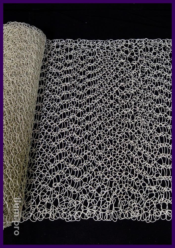 Сетка декоративная белая из прессованного ПВХ, рулон шириной 1 и длиной 10 метров
