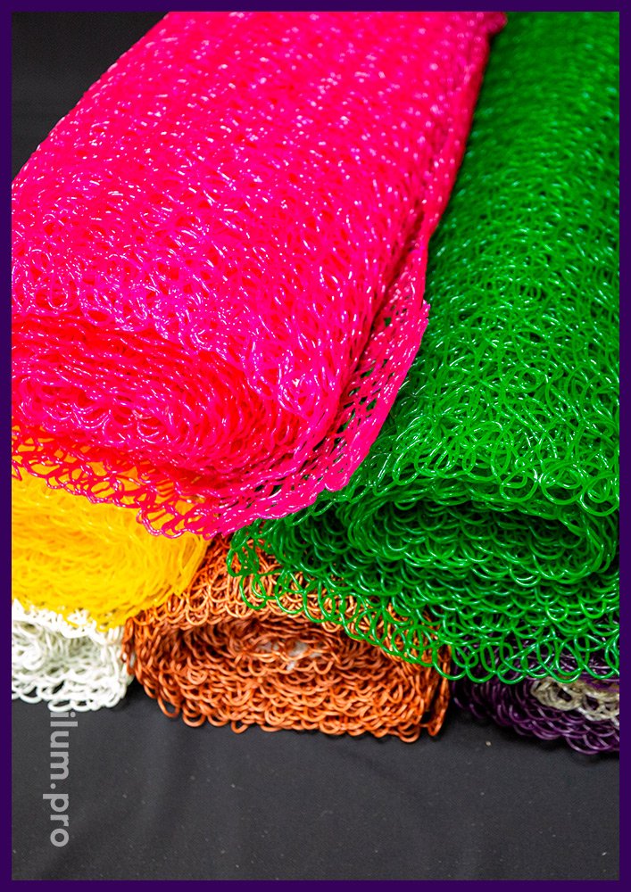 Разноцветная сетка в рулонах, декоративное покрытие для украшения новогодних фигур