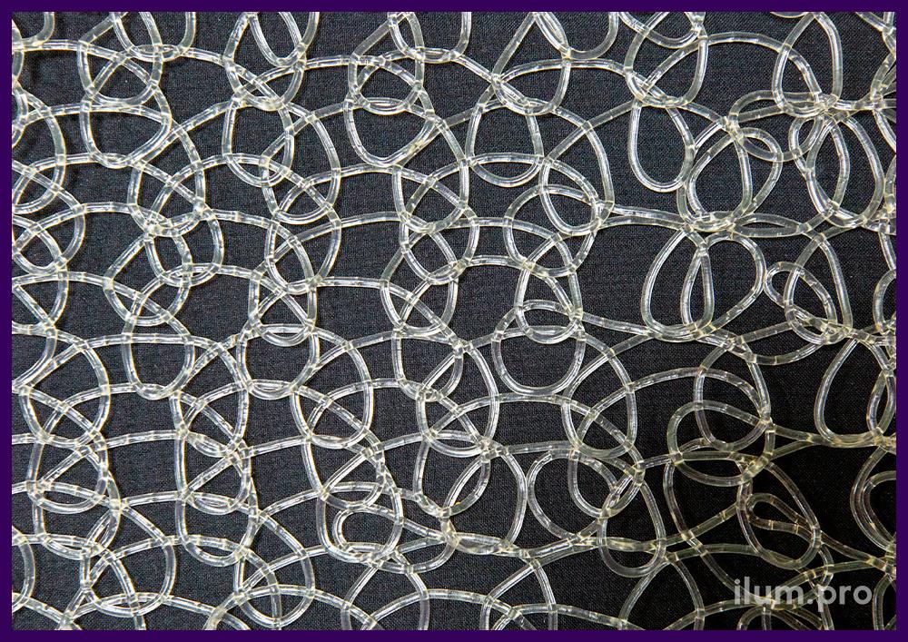 Серебристая пластиковая сетка из эластичного пластика, декоративное покрытие на Новый год