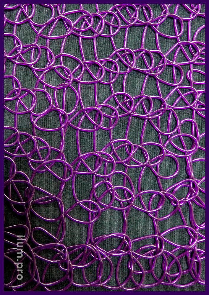 Сетка декоративная из эластичного полимера (PVC), полупрозрачные материалы для иллюминации