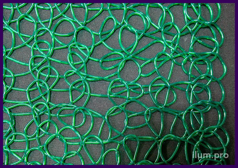 Сетка из эластичного пластика - прессованные петли ПВХ разных цветов в рулонах