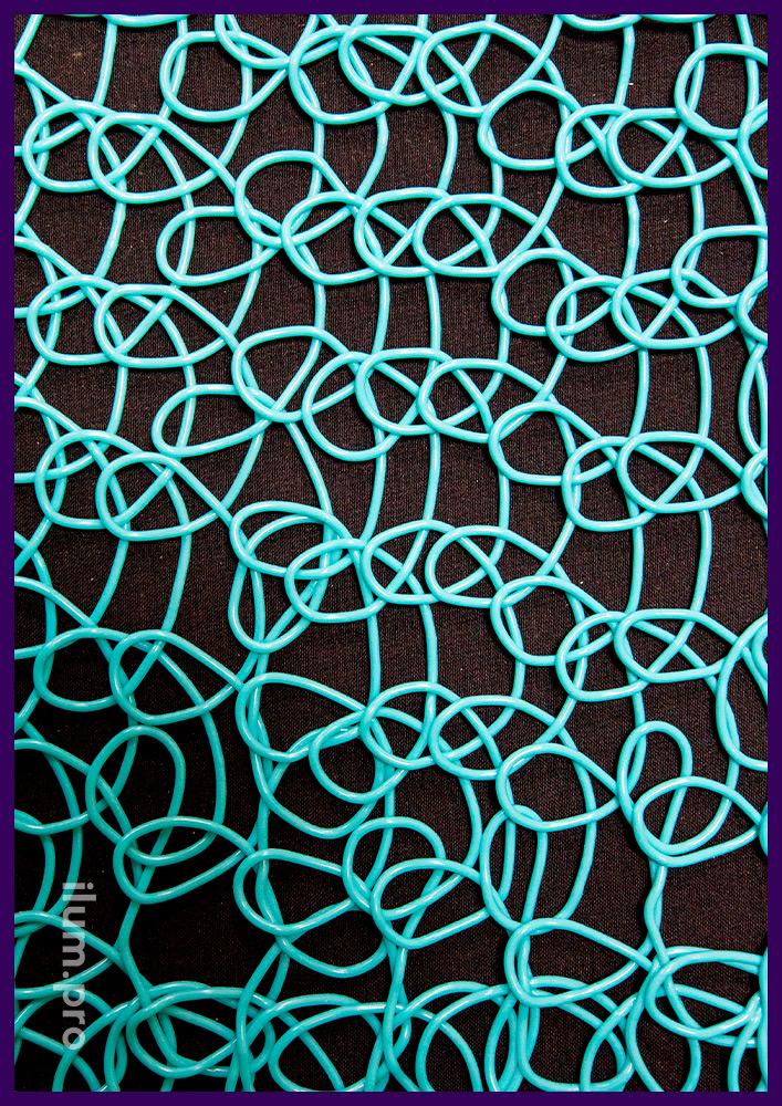 Эластичная пластиковая сетка в рулонах, разноцветное декоративное покрытие из PVC