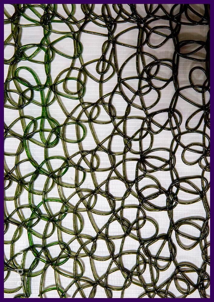 Тёмная сетка из ПВХ для украшения декоративных фигур с гирляндами на Новый год